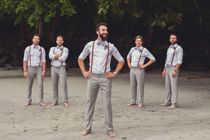 groomsmen grey pants beach - Google Search