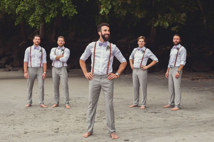 groomsmen grey pants beach - Google Search