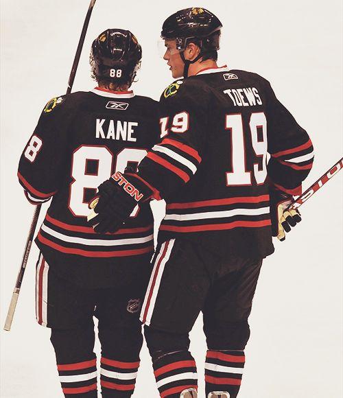 Jonathan Toews and Patrick Kane.
