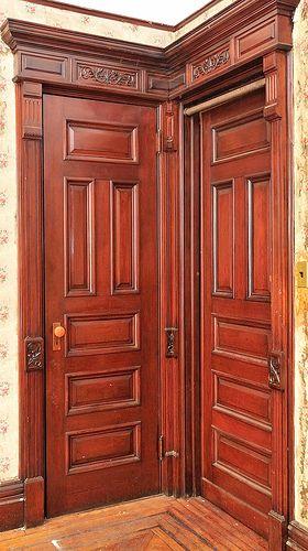 Garfield Place Brooklyn brwonstone Victorian interior doors | Flickr - Photo Sharing!