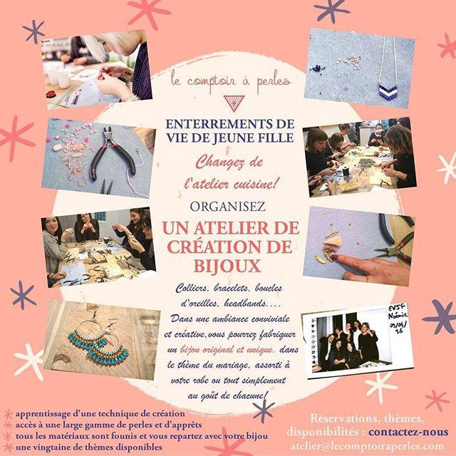 ENTERREMENTS DE VIE DE JEUNE FILLE - Marre du traditionnel hammam et des ateliers cuisine? Innovez avec nos ateliers de création de bijoux personnalisés! #lecomptoiraperles #atelier #workshop #perles #EVJF #beads #handmade #handmadejewelry #faitmain #bijoux #jewelslovers #instajewels #creation #creativity #créativité #collier #sautoir #necklace #bracelet #headband #couleurs #fashion #Paris #boheme #Diy #loisirscreatifs #BO #jenfiledesperlesetjassume