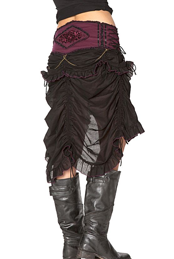 VICTORIAN LONG BUSTLE SKIRT Funky clothing,Tribal clothing and Party clothing for men and women - Etnix Byron Bay