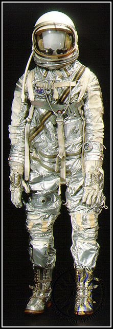 John Glenn wore this space suit on February 20, 1962, when he became the first American to orbit the Earth. #astronaut