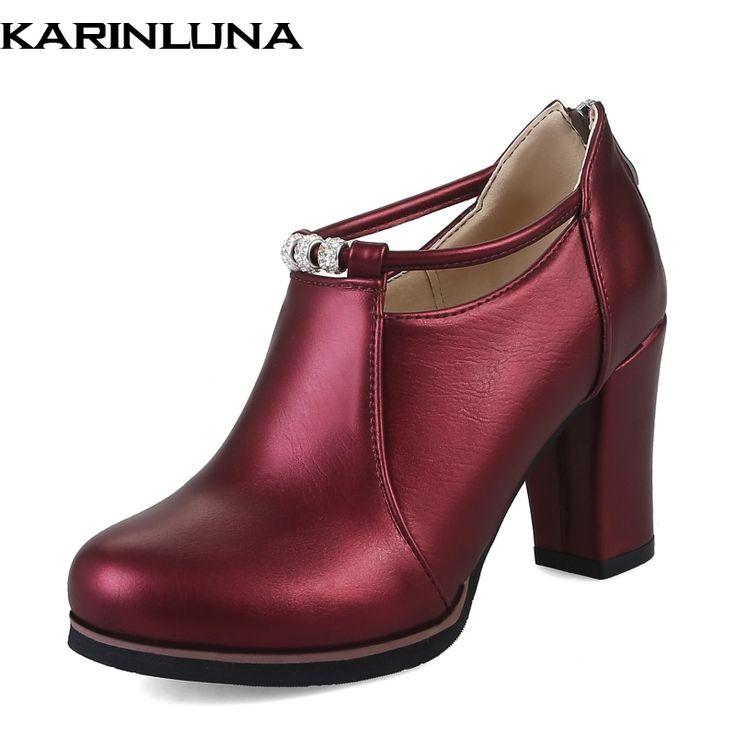 Купить товарKarinluna/Размеры 32 48 качество Для женщин Насосы На высоких толстых каблуках для вечеринки, свадьбы, выпускного женская обувь на платформе женская обувь в категории Туфли-лодочкина AliExpress. Karinluna/Размеры 32-48 качество Для женщин Насосы На высоких толстых каблуках для вечеринки, свадьбы, выпускного женская обувь на платформе женская обувь