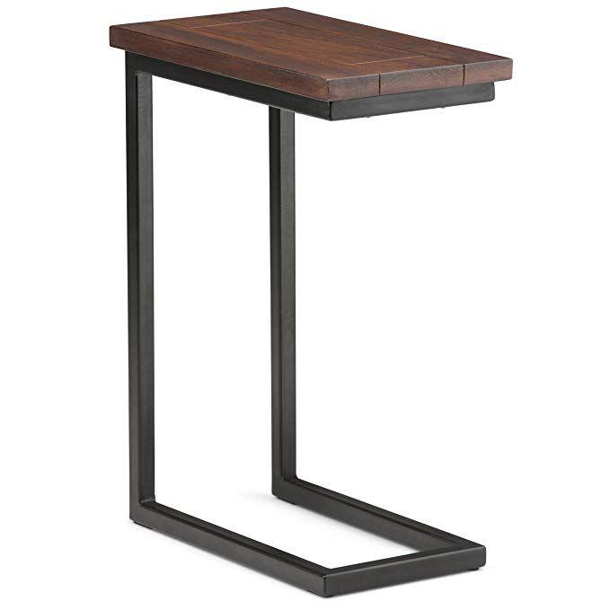 Amazon Com Simpli Home 3axcsky 09 Skyler Solid Mango Wood 10 Inch Wide Modern Industrial C Side Table In Dark Cognac B Solid Mango Wood Simpli Home Side Table