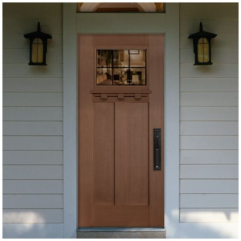 craftsman style front door...this is similar to the one we chose but & 54 best Great Exterior Door Inspirations images on Pinterest | Front ...