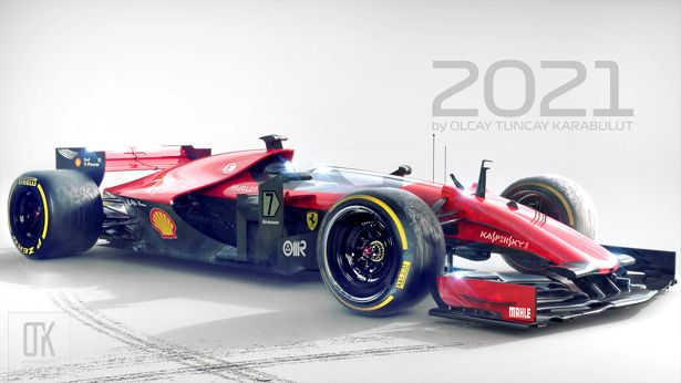 F1 2021 Race Car Concept By Olcay Tuncay Karabulut Racing Racing Car Design Race Cars