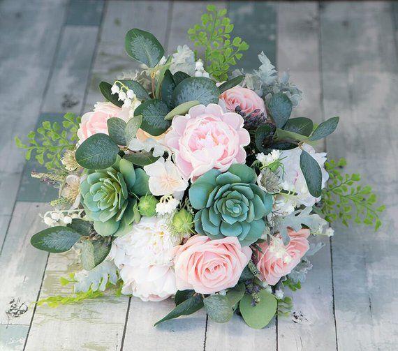 Boho Bouquet, Rustic Bouquet, Peony Bouquet, Blush Bouquet, Silk Wedding Bouquet, Blush Peony Bouque