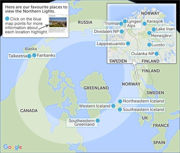 Map Of Norways Northern Light Region Google Search Northern - Norway map highlights