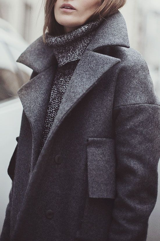 Grey on grey coat