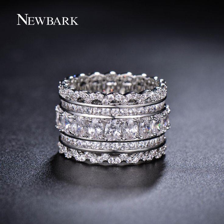 Schicken Mehr Ringe Information über NEWBARK Luxus Breite Kreis Frauen Ringe…