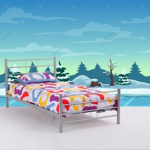 Fotobehang Wintergame | Maak het jezelf eenvoudig en bestel fotobehang voorzien van een lijmlaag bij YouPri om zo gemakkelijk jouw woonruimte een nieuwe stijl te geven. Voor het behangen heb je alleen water nodig!   #behang #fotobehang #print #opdruk #afbeelding #diy #behangen #winter #videogame #videospel #sneeuw #level #kinderkamer