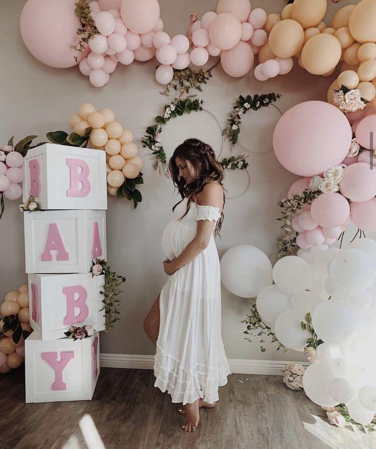 Pinterest Girl Baby Shower Decorations Balloons Inspiration