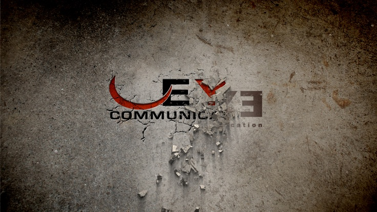 A frame from the animation to present the new EYE Communication logo.