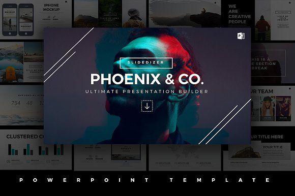 Phoenix Minimal PowerPoint Template by Slidedizer on @creativemarket