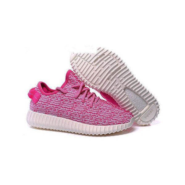 Custom Light Pink Yeezy Boost 350 Low ❤ liked on Polyvore featuring shoes