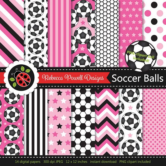 Soccer/ football digital paper set which includes a clipart PNG soccer ball! Great for crafts, scrapbooking, commercial and digital use. Available from Etsy & Teachers Pay Teachers #etsy #etsyseller #etsyshop #teacherspayteachers #soccer #football #sports #supplies #commercialuse #pattern #digitalpaperset #printablepapers #papers #crafts #scrapbooking #soccerballs #footballs #digitaldownload #digitalbackgrounds #pink #clipart #resources #instantdownload #jpeg #png #stars #spots #stripes