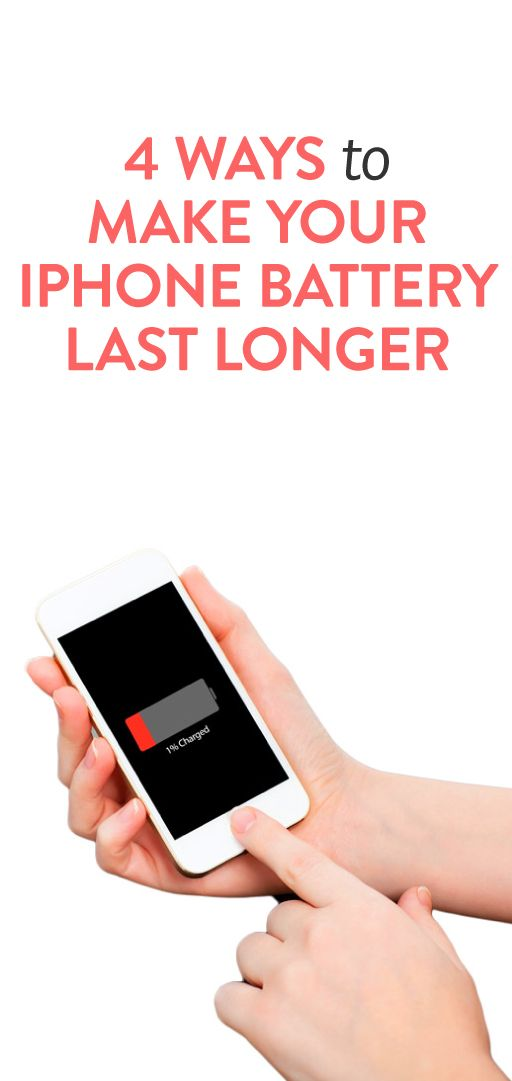 4 ways to make your iPhone battery last longer