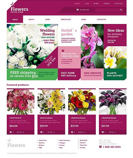 30 best Flowers Web Templates images on Pinterest | Template ... | title | flowers web
