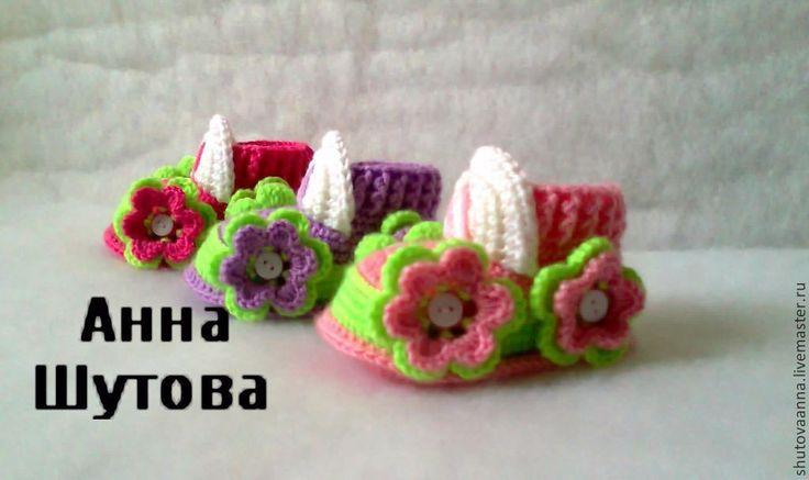 Купить Пинетки тачки для девочек - вязание на заказ, Вязание крючком, пинетки, вязаные пинетки, для новорожденных
