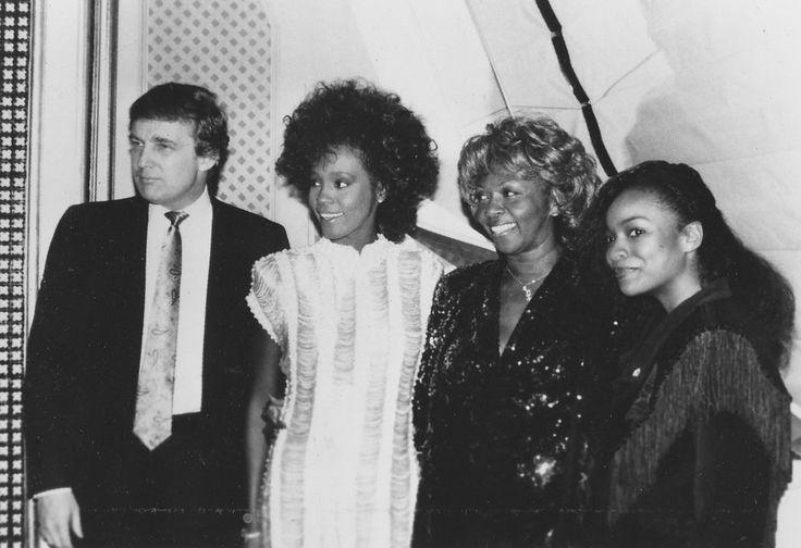 RARE PHOTO) Whitney Houston, Cissy Houston and Donald Trump posing ...
