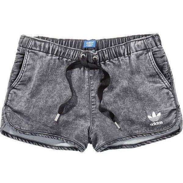 adidas DENIM SHORTS (800 MXN) ❤ liked on Polyvore featuring shorts, bottoms, pants, short jean shorts, jean shorts, adidas, denim shorts and adidas shorts
