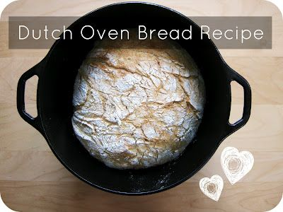 Easy Dutch Oven Bread Recipe by cornflowerbluestudio #cooking #baking #food