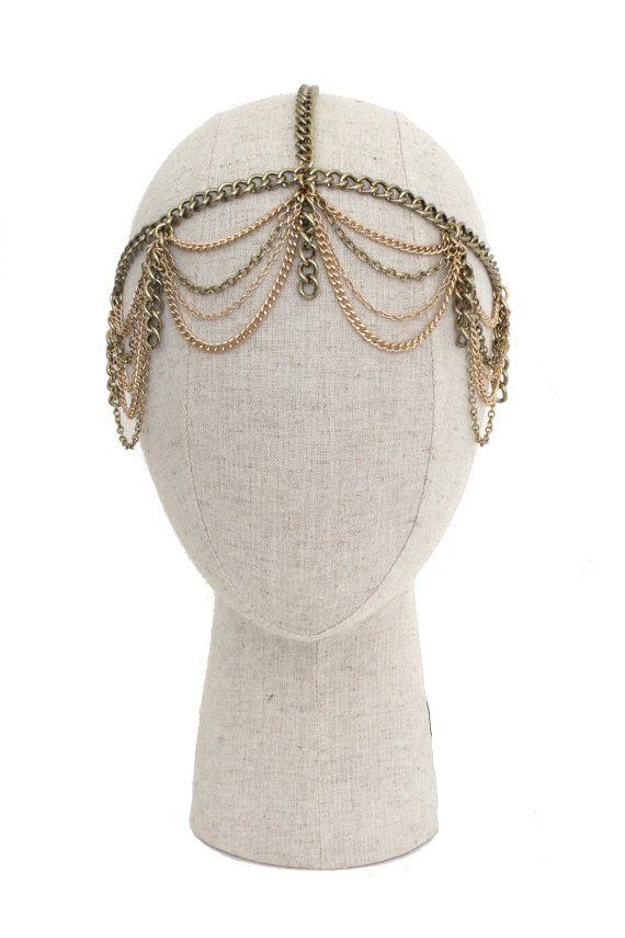 Gatsby Headpiece // Art Deco headpiece // by WolfAndElkHEADPIECES