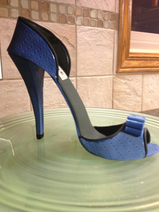 Blue fondant high heel shoe |Pinned from PinTo for iPad|
