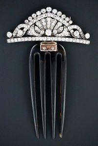 Victorian Tiara Comb 1880