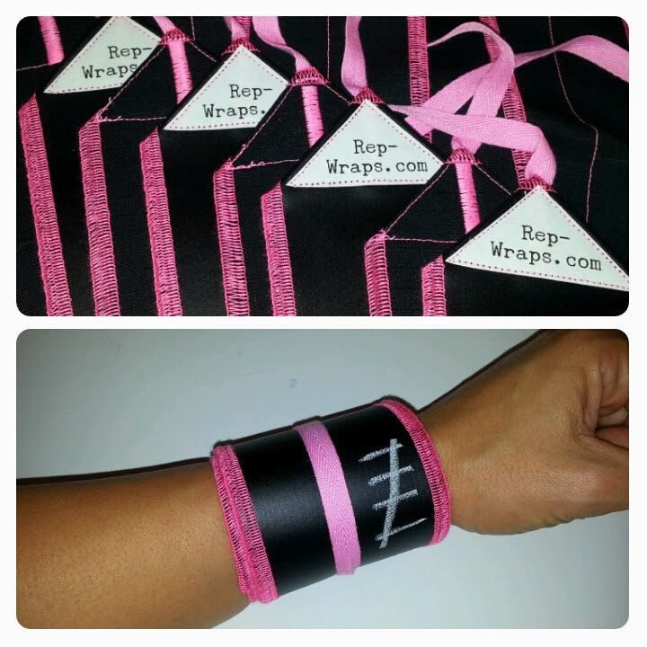 Writeable Athletic Wrist Wraps Black and Hot Pink by WriteGear, $25.00