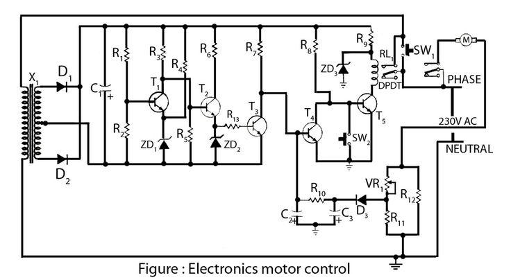 Electronics motor controller circuit diagram in 2019