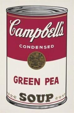 Green Pea (Campbell's Soup I) par Andy Warhol | artists , art, modern art, contemporary art, classic art, street art, all the inspirations that you need | www.bocadolobo.com #bocadolobo #luxuryfurniture #exclusivedesign #interiodesign #designideas #art #modernart #contemporaryart #artists #modernartist #famousartists #streetart #urbanart