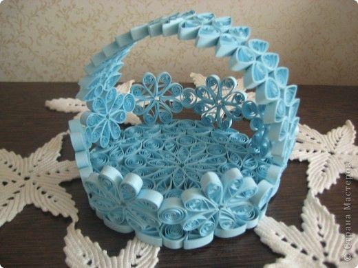 Coș de produse de artizanat Cartea albastră Quilling