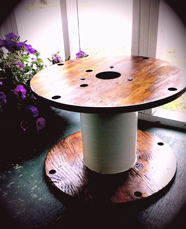 25 best ideas about large wooden spools on pinterest for Small wire spool ideas