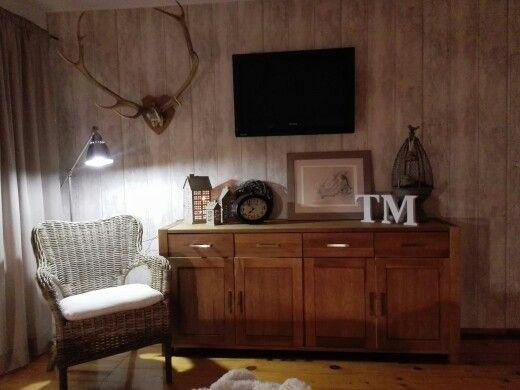 Sypialnia, bedroom, wood, barometer