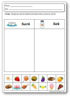 Les 5 sens le goût en maternelle, projet, activités et jeux sur le goût