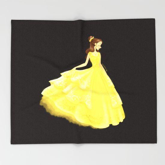 Golden Beauty Throw Blanket