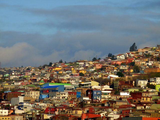 Colourful houses in Valparaiso