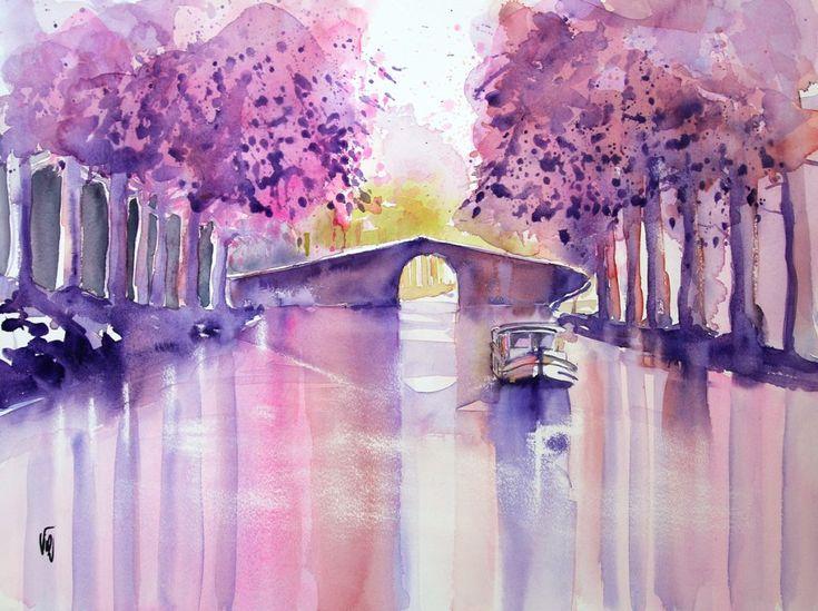 Canal du midi - Virginie SCHROEDER artiste peintre