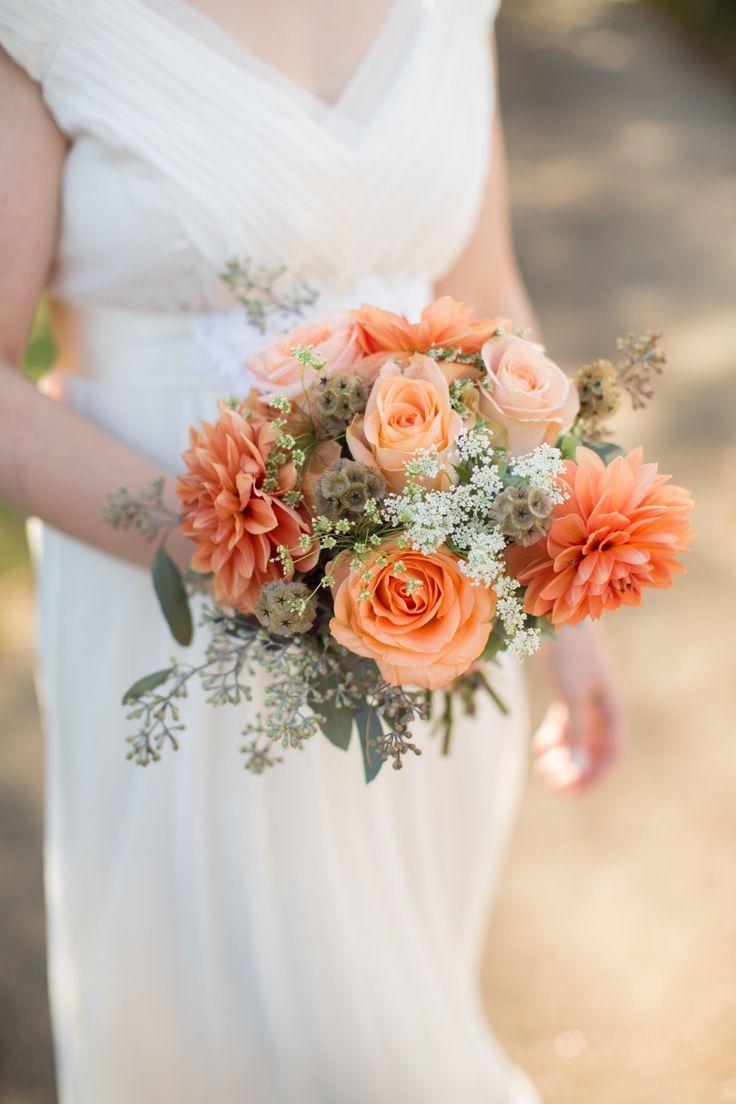 #scabiosa-pod, #dahlia  Photography: Olivia Griffin Photography - oliviagriffinphotography.com  Read More: http://www.stylemepretty.com/2014/06/03/colorful-farm-wedding/