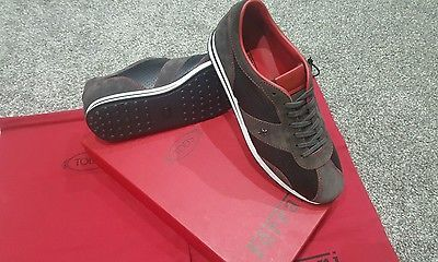 Tods Rare Ferrari Mens Trainers BNWT SIZE 8.5