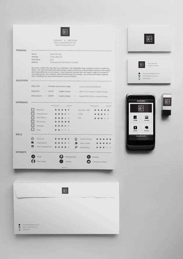 1000+ images about CV design on Pinterest Behance, The black and - resume personal interests