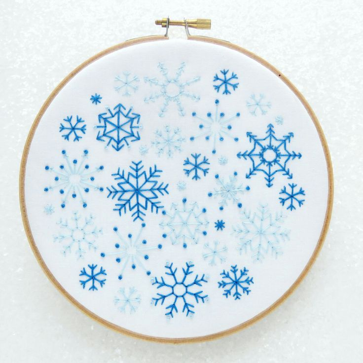 ❄Snowflakes Embroidery Kit. ❄Everything you need to make your own handmade Christmas decoration or gift ❄