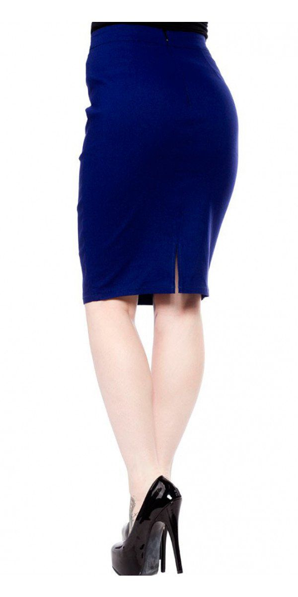 Essential Pencil Skirt in Blue