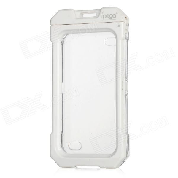 Brand: iPega - Color: White - Material: Silicon membrane + plastic shell - Good waterproof protective effect allowing you to use it under rain snow or other similar circumstance - Not available for diving - Tightness and mechanical strength bring your Iphone with excellent care - Dust and fingerprint resistant - Suitable for Iphone 4 / 4S http://j.mp/1uOi8xP