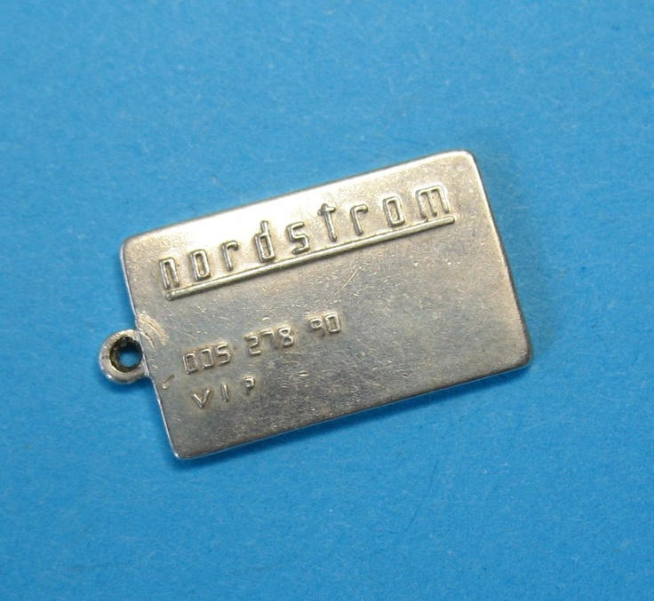 Sterling Silver Nordstrom Credit Card Charm