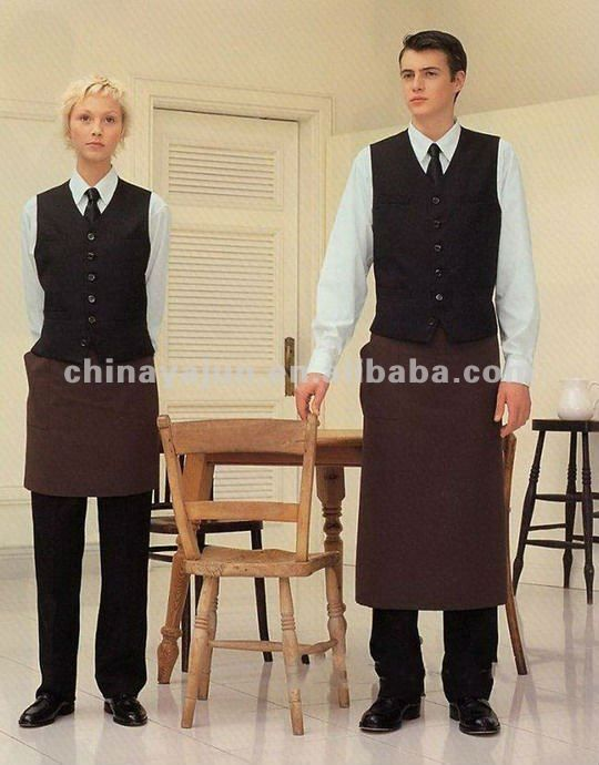 Hotel uniform Restaurant uniform for waiter 2012 fashion hotel uniform