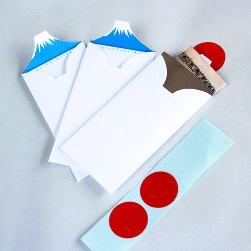 お年玉袋をあけたら、そこには富士山があった。 Mt.envelope pochi - まとめのインテリア / デザイン雑貨とインテリアのまとめ。