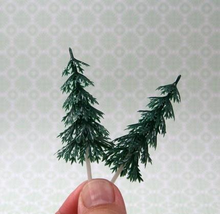 pine tree cupcake picks